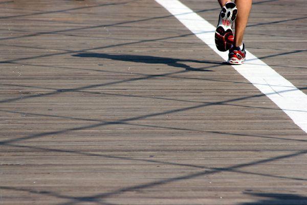 jogger auf dem weg nach manhattan