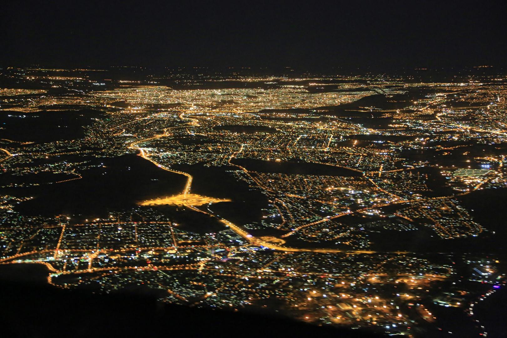 Johannesburg/Südafrika am Abend