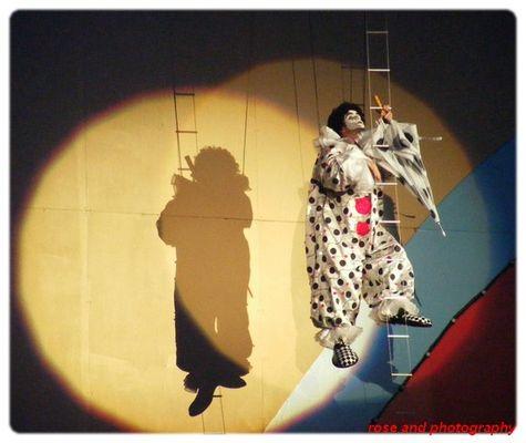 joli clown et son ombre