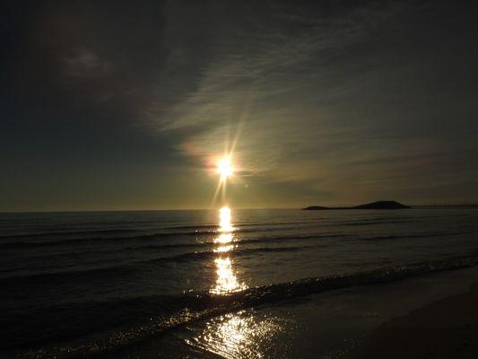 joli coucher de soleil à la grande motte