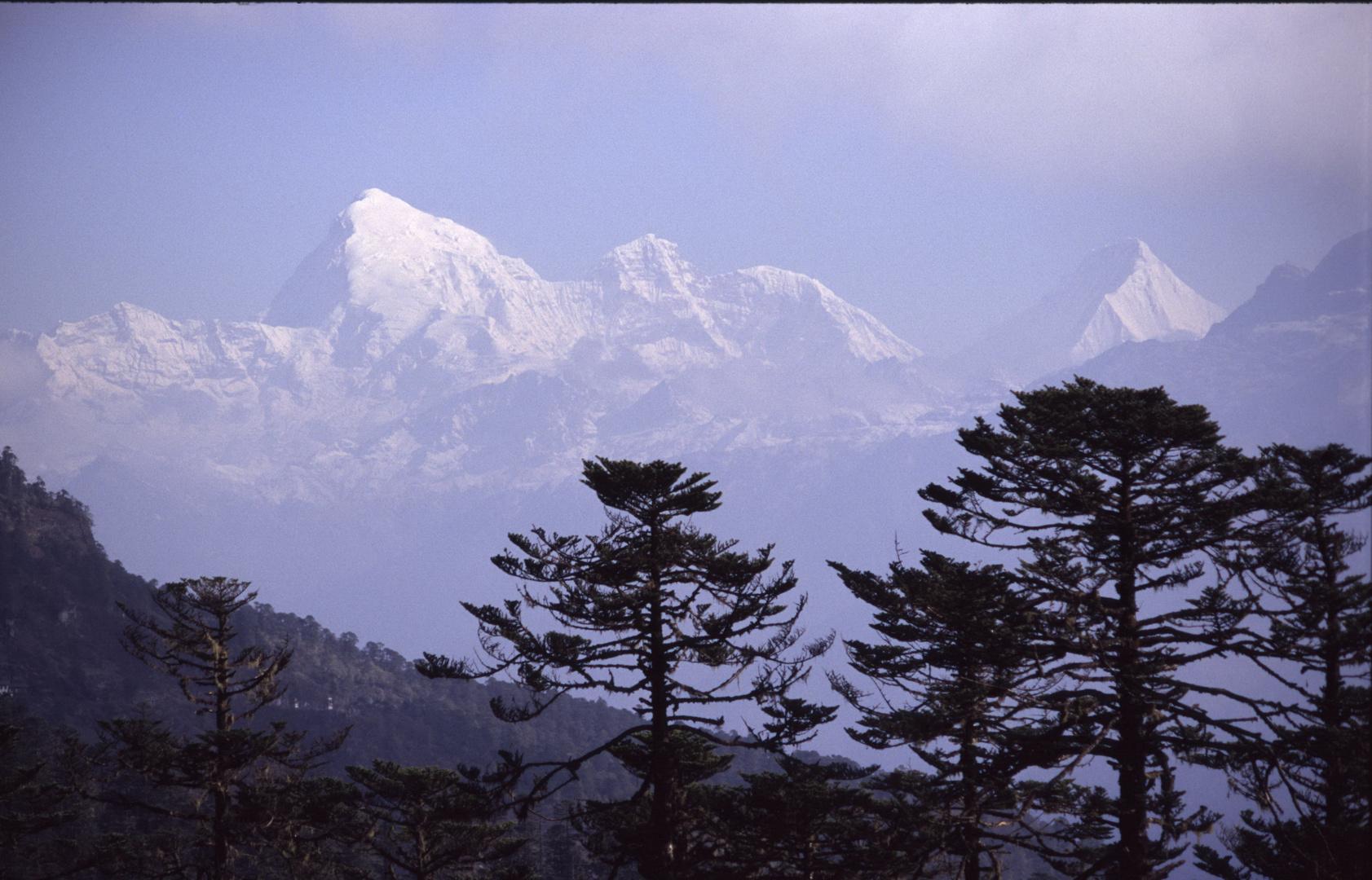 Jomolhari auf der Grenze zwischen Tibet und Bhutan