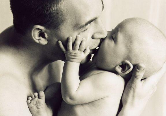 Jonas mit Papa