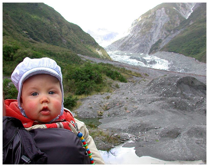 Joshua am Fox Glacier
