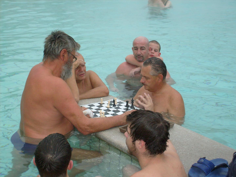 joueurs d'echecs à Budapest