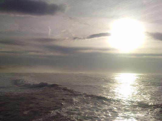 Jour de tempête entre mer et montagne