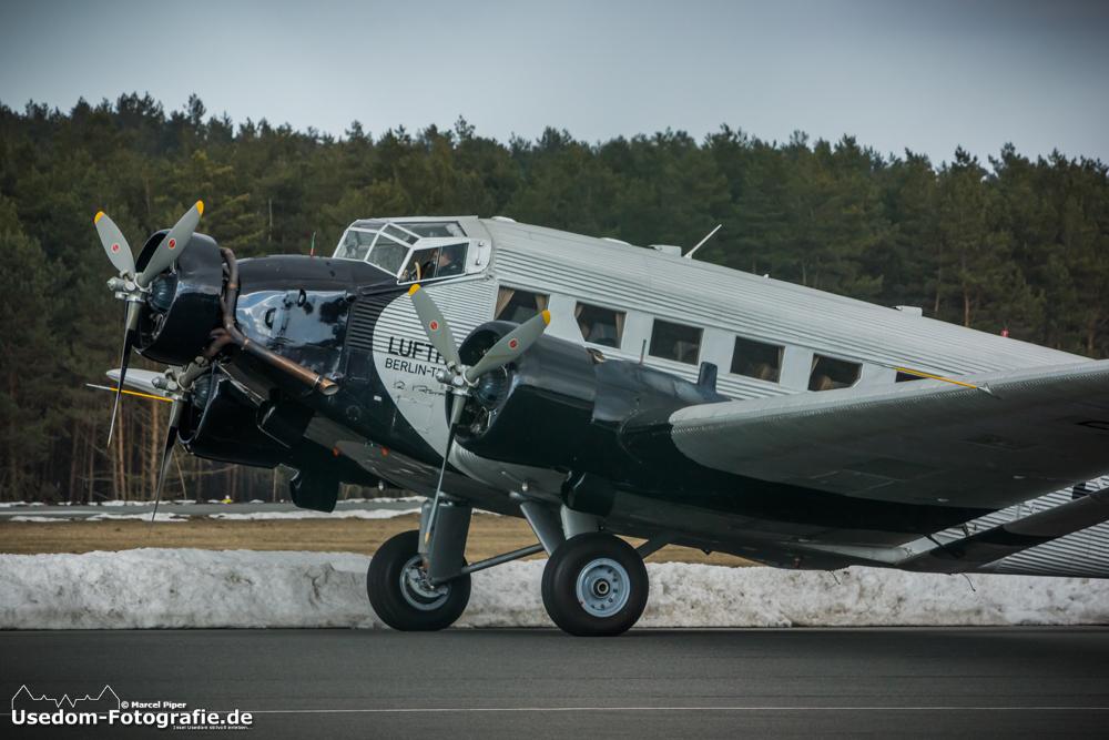 Ju 52 auf dem Flughafen Heringsdorf