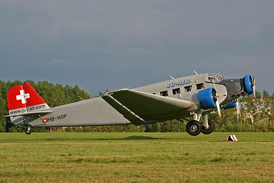 Ju 52 HB-HOP in Zwickau