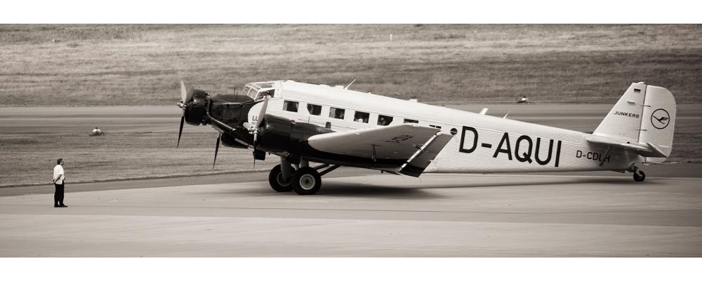 Ju-52 vor dem Start