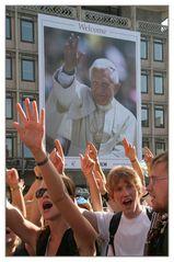 Jubel mit dem Papst - WJT Köln