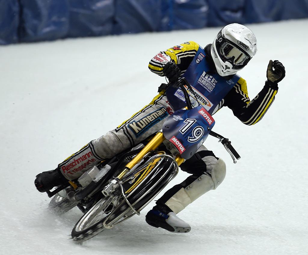 Jubel war leider sehr selten zu sehen ... | Eis Speedway Inzell 2014 #07