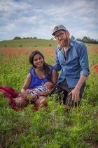 Judith und Chris eine junge Familie