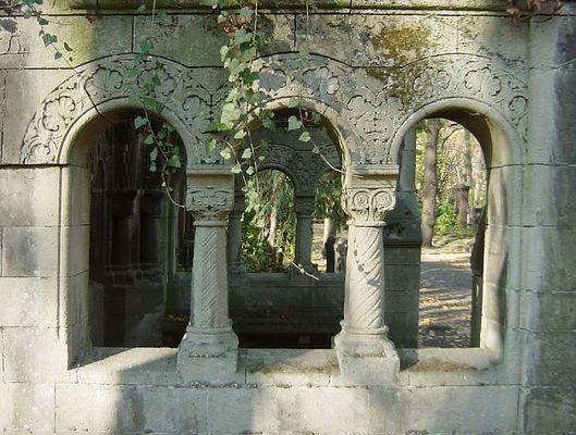 Jüdischer Friedhof Berlin - Durchblick