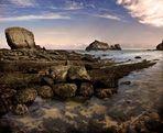 juego de dados. Playa de Arnía. Cantabria