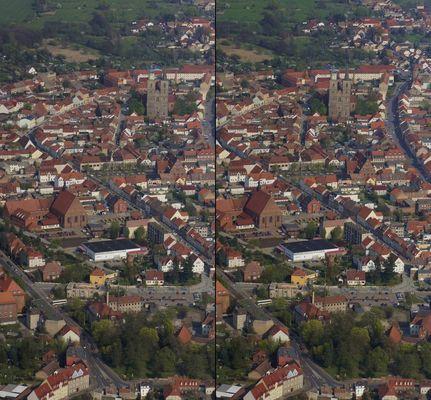 Jüterbog aus Flugzeug (3D-X-View)