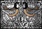 Jugendstil-Fenster (Detail)