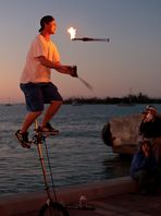 Juggling the sunset