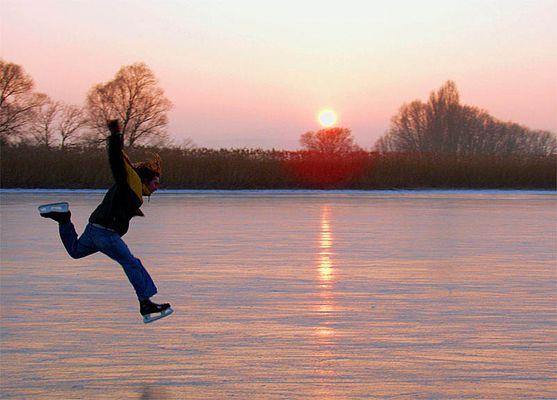 Juhu! Es hat Eis bei uns auf dem Bodensee!
