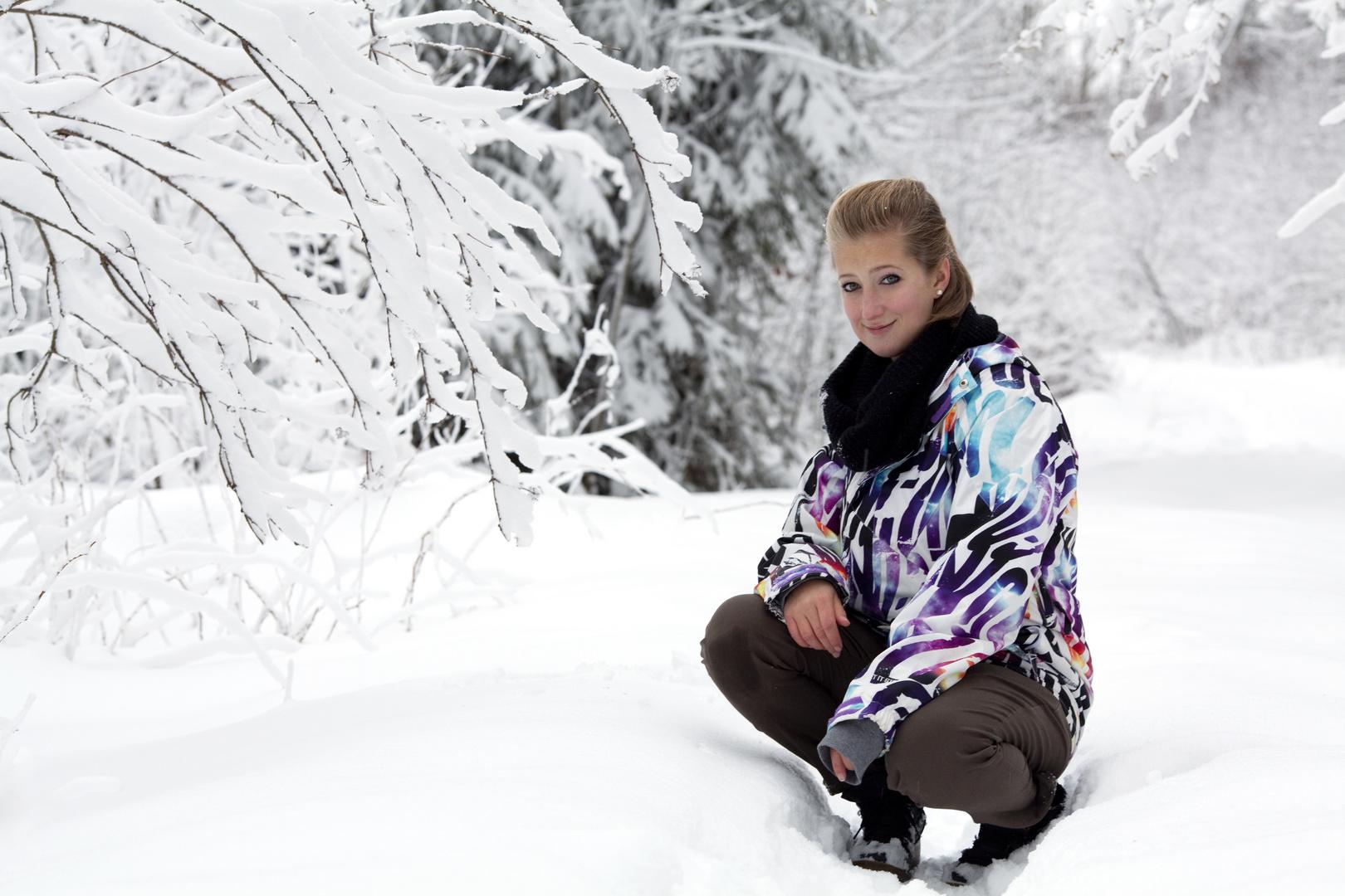 Julchen im Schnee