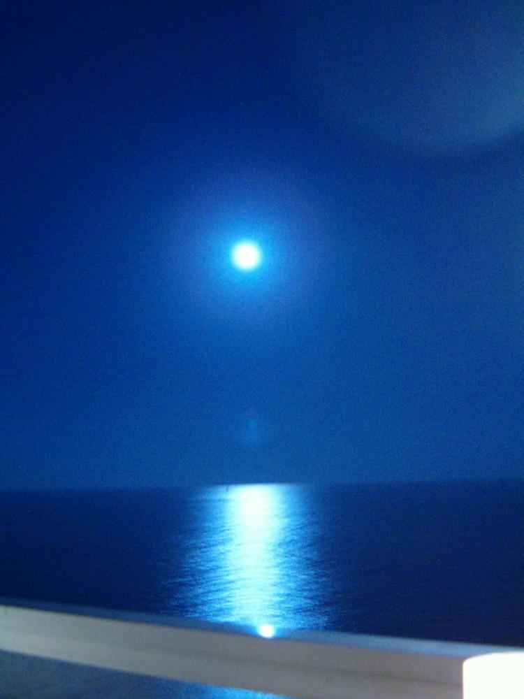 Juli-Mond bei Cala Figuera, Mallorca