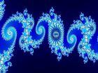 Julia-Fraktal [blauer Ausschnitt]