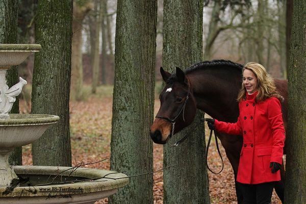 Julia Thut mit ihrem Freiberger