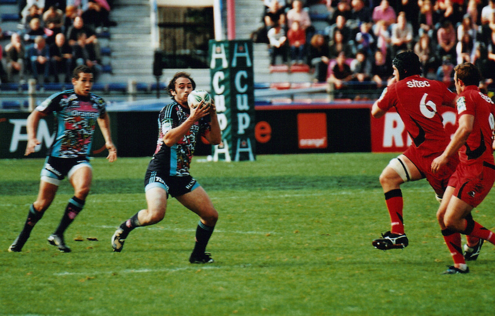Julien dupuy en action, stade français