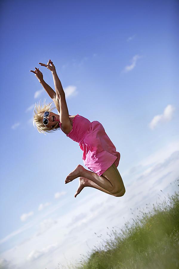 ... Jump - pure Lebensfreude ...
