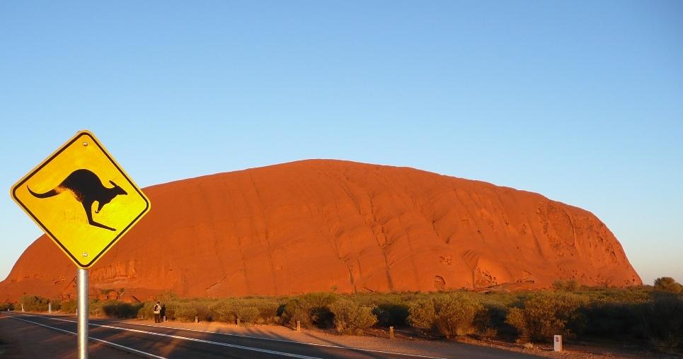 Jumping Uluru...