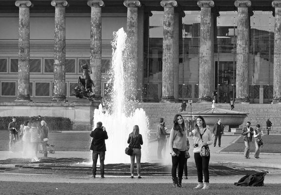 Jung und Alt in Berlin