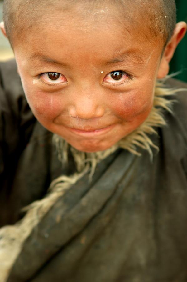 Junge am Berg Kailash, Tibet