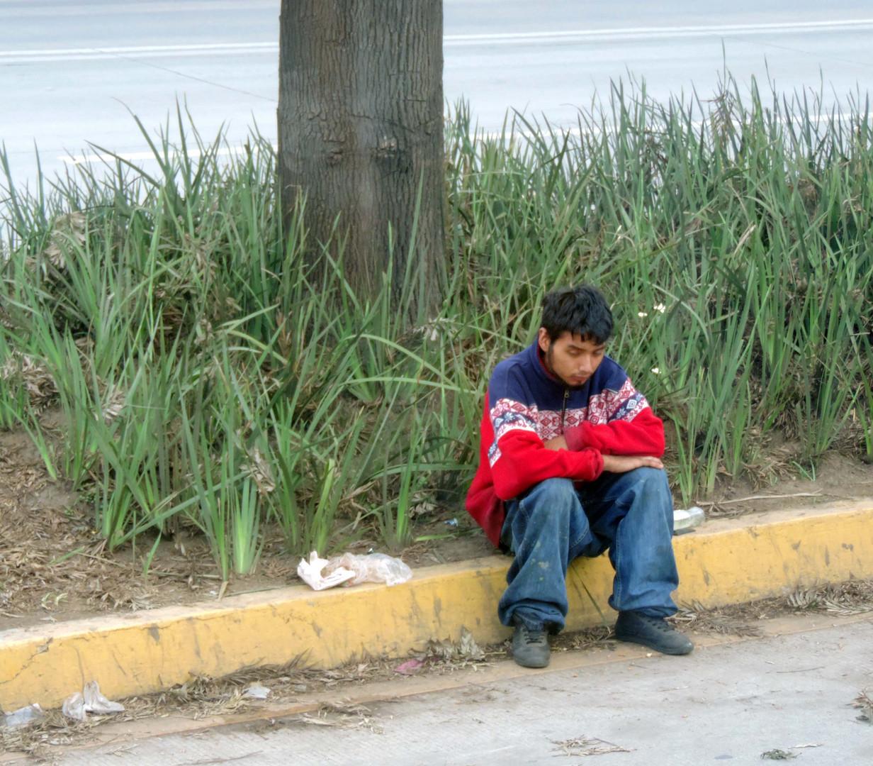 Junge an der Autobahn. Estado de Veracruz