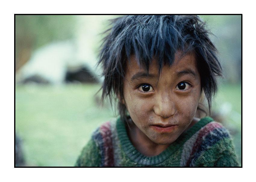 Junge aus dem Markha Valley, Ladakh, Indien