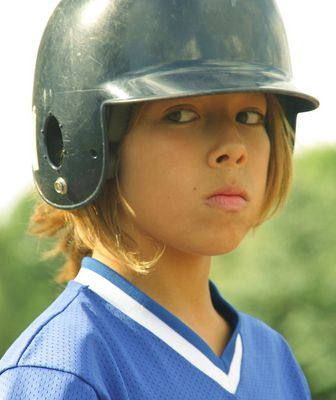 junge Baseballspielerin1