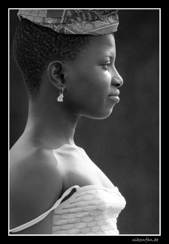 Junge Beninerin