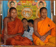 Junge Mönche in Phnom Kulen,Cambodia