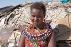 Junge Samburu Frau Kenia -7-