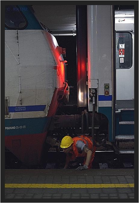 Junger Eisenbahner