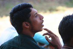 junger Fussballfan in Kerala, Indien und + StoryzumFoto 45 min südlich von Kovalam