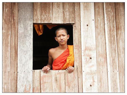 Junger Mönch - Ban Xang Hai, Laos
