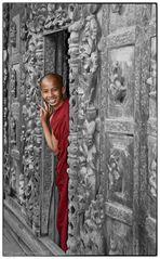 """junger Mönch im """"Shwenandaw Kyaung"""" (2009)"""