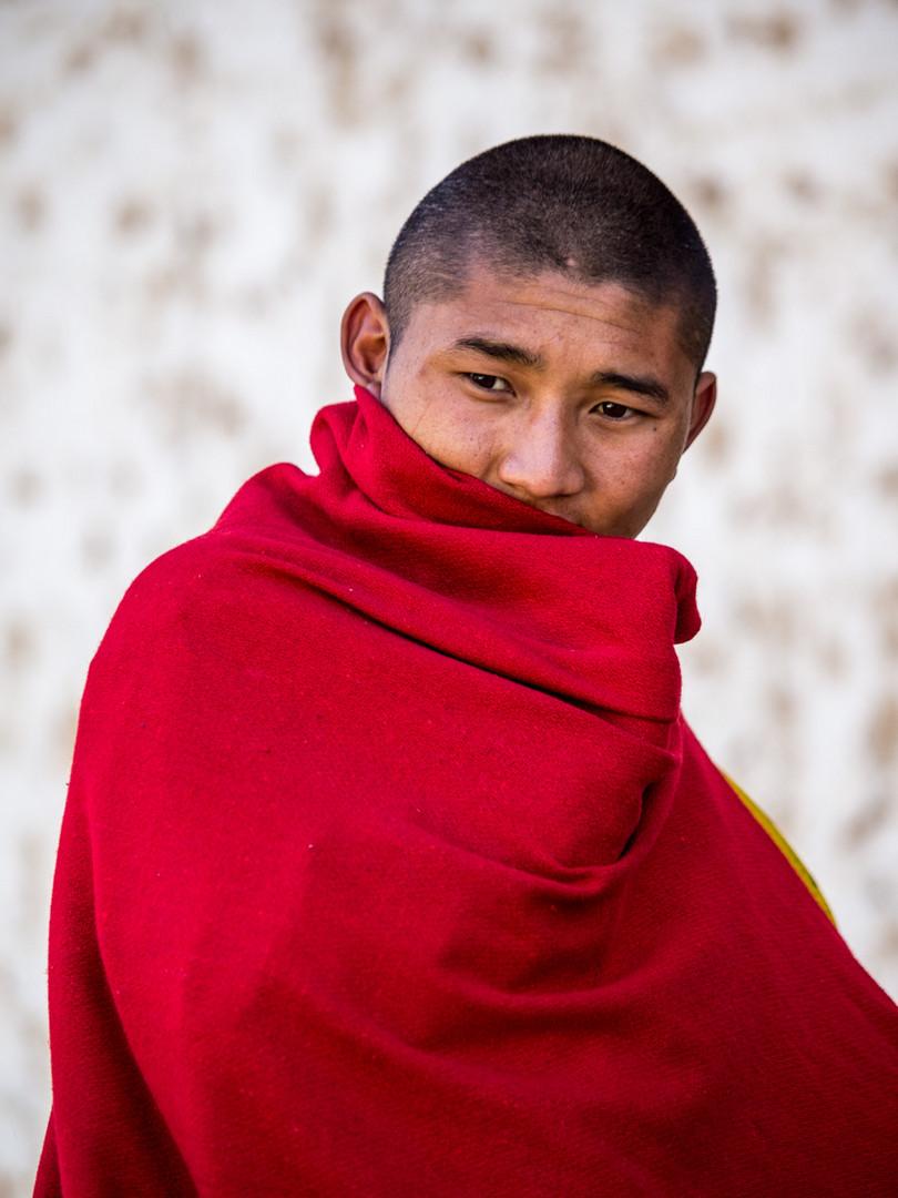 junger Mönch in Bhutan