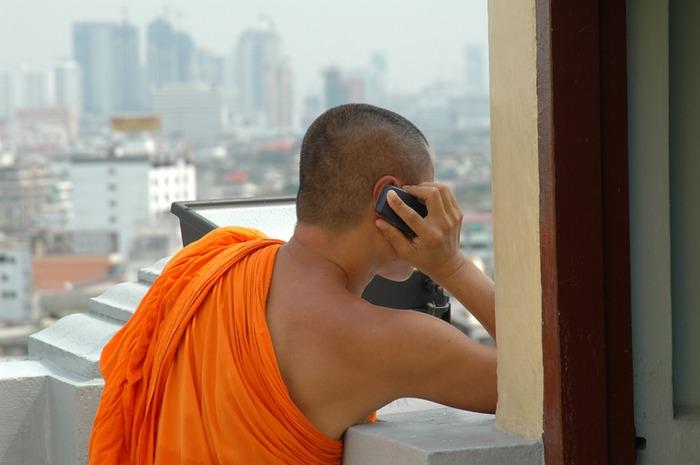 junger Moench in Bkk. 2005