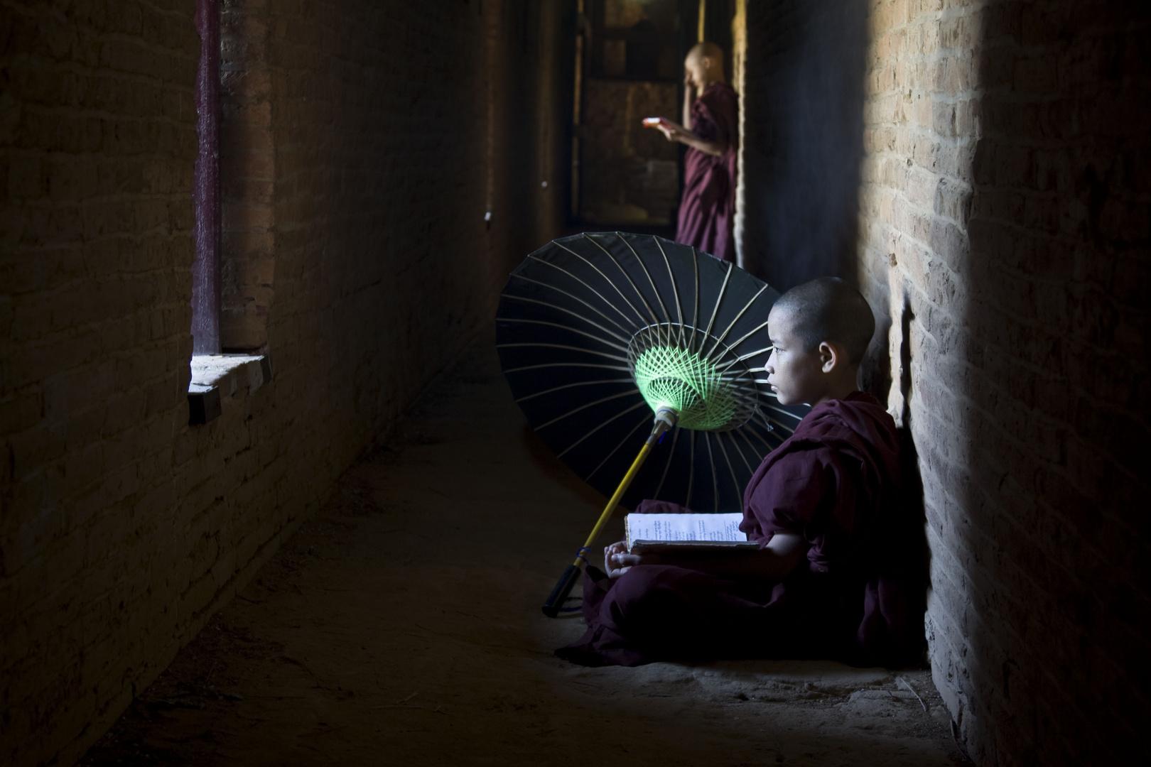 junger Mönch in Myanmar