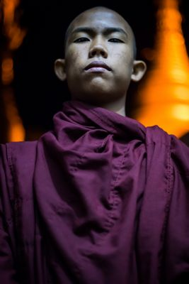 Junger Novize in Mandalay