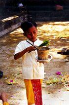 junger Tempeldiener auf Bali