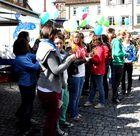Junges Gemüse auf dem Mittwochsmarkt in Wangen m Allgäu -3-