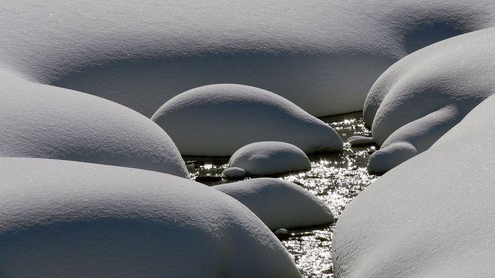 Jungfräulicher Schnee