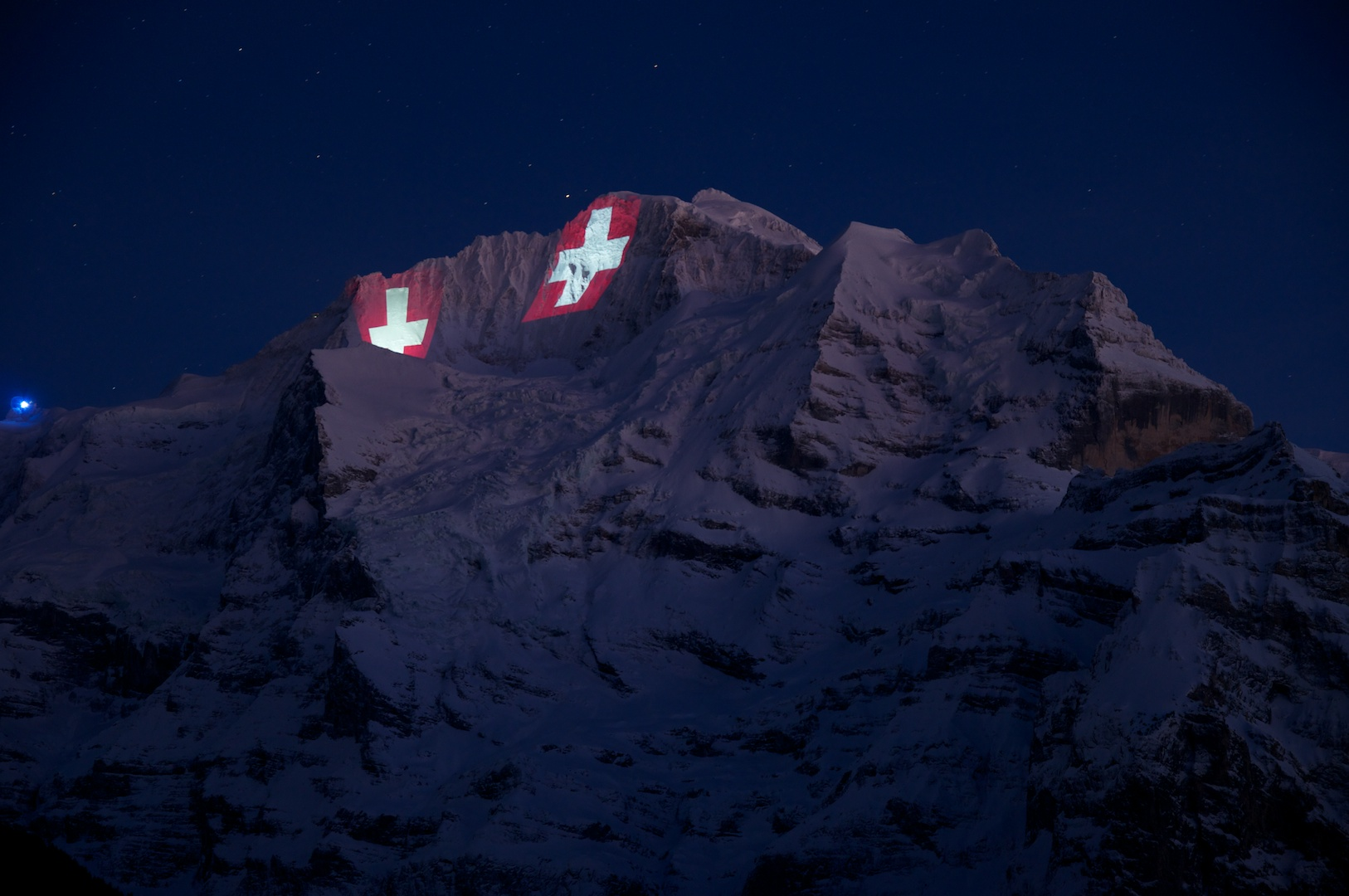 Jungfrau Beleuchtung