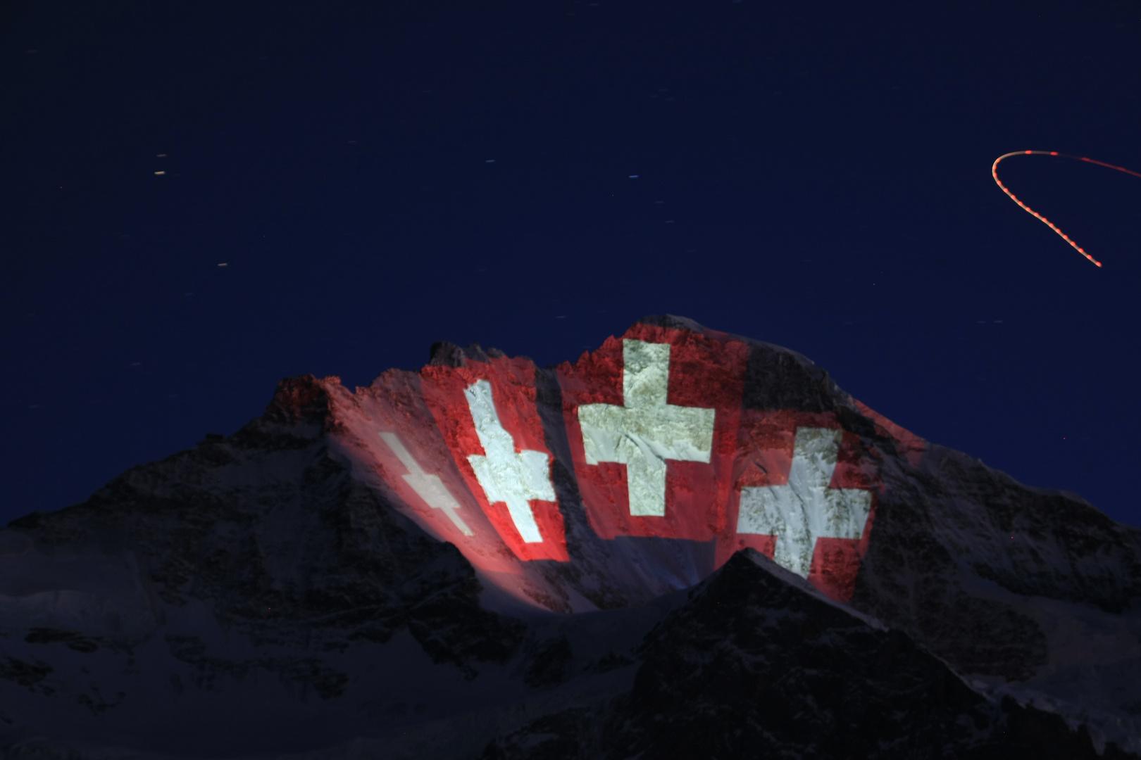 Jungfraujoch Beleuchtung (100 Jahr Jubiläum der Jungfraubahn)