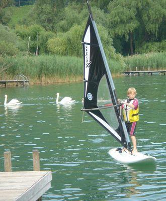Junior auf dem Kalterer See